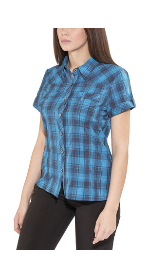 Bergans Leknes SS Shirt Ladies Navy/Light Sea Blue Charcoal